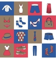 Clothes icons set flat line vector image vector image