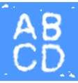 Cloud Letters vector image vector image