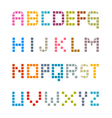 Colorful Square Alphabet vector image