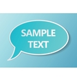Comic style speech bubble vector image vector image