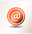 contact icon in flat design vector image