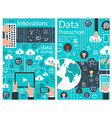 data protection internet innovation poster vector image vector image