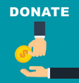 donate money concept vector image vector image