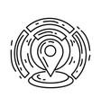e-commerce geo location icon hand drawn icon set vector image vector image