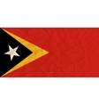 East Timor paper flag vector image vector image