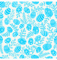 easter seamless pattern with eggs and spring vector image