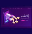 email marketing banner promotion mail vector image