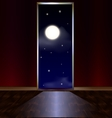 exit in night heavens vector image vector image