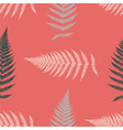 fern seamless pattern living coral vector image