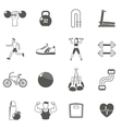 Fitness Black Icons Set vector image vector image