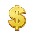 golden dollar icon money payment dollar sign vector image