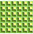 Green and yellow ornamental seamless pattern vector image vector image