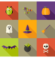 Halloween Squared Flat Icons Set 2 vector image vector image