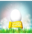 Happy easter card with egg Bright spring vector image vector image