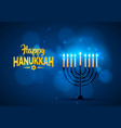 happy hanukkah background cover vector image