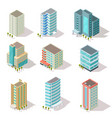 isometric buildings business offices apartment vector image vector image