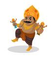kumbhakarna cartoon character vector image