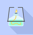 lab burner icon flat style vector image