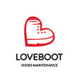 love boot shoes logo vector image