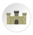 old fortress towers icon circle vector image vector image