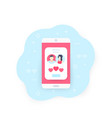 online dating app match icon vector image