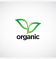 organic leaves logo symbol icon vector image