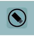 Pale blue USB stick sign vector image