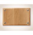 rectangular wooden plate vector image vector image