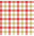 red beige check tablecloth seamless pattern vector image vector image