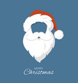 santa claus hat and beard merry christmas vector image vector image