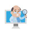 scientist professor science vector image vector image