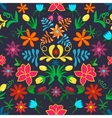 Seamless floral backgroundColorful flowers and vector image vector image