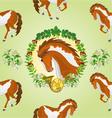 Seamless texture piebald horse head of stallion vector image vector image