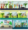 set of banking concept design elements in vector image vector image