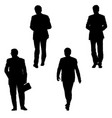 set silhouette businessman man in suit on a white vector image vector image