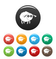 shocked sheep icons set color vector image vector image