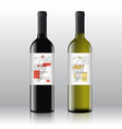 stylish contemporary art red and white wine labels vector image
