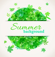 Summer background with white stripe for your text vector image vector image