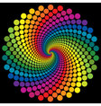 swirly wallpaper rainbow background vector image