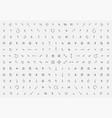 thin arrow set symbol arrows line icon collection vector image