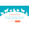 veterinarian clinic banner landing page template vector image vector image