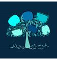 Vintage bubble speech tree vector image vector image