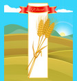 wheat cereal poster and nature vector image vector image