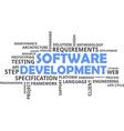 word cloud software development vector image vector image