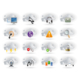 cloud networking icons set vector image