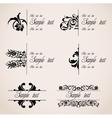 Classic Border Ornaments set vector image