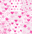 Baby girl seamless background patterns vector image