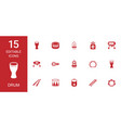 15 drum icons vector image vector image
