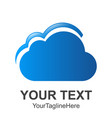 abstract cloud letter logo design template vector image vector image