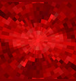 abstract red shiny concentric mosaic vector image vector image